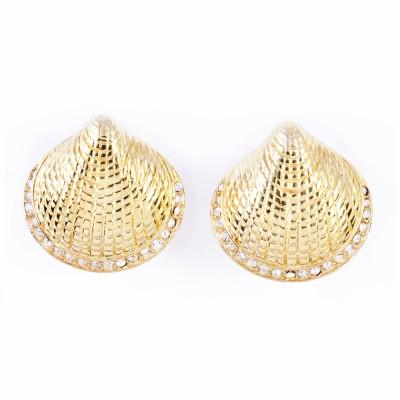 Gold and Rhinestone Earrings