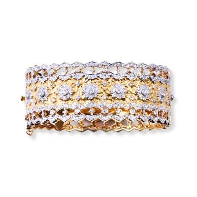 Gold and CZ (Cubic Zirconia) Bracelet