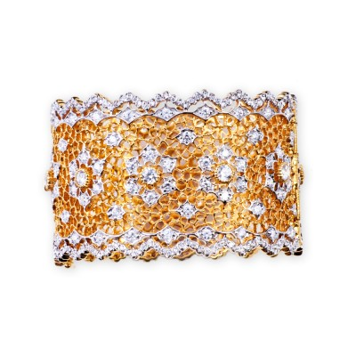 Gold and CZ (Cubic Zirconia) Bracelet