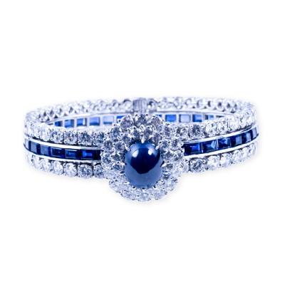 CZ (Cubic Zirconia) and Sapphire Bracelet
