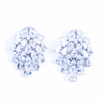 CZ (Cubic Zirconia) Chandelier Earrings