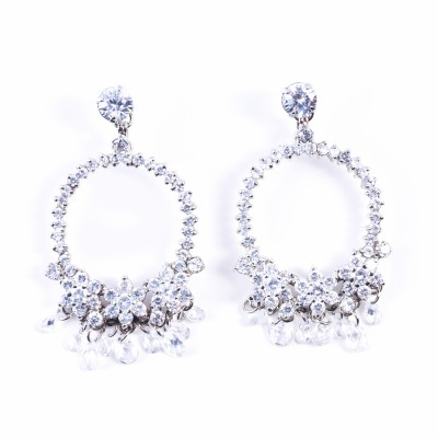 CZ (Cubic Zirconia) Pierced Earrings