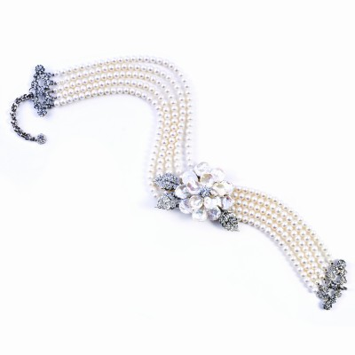 Fresh Water Pearl and CZ (Cubic Zirconia) Choker Necklace