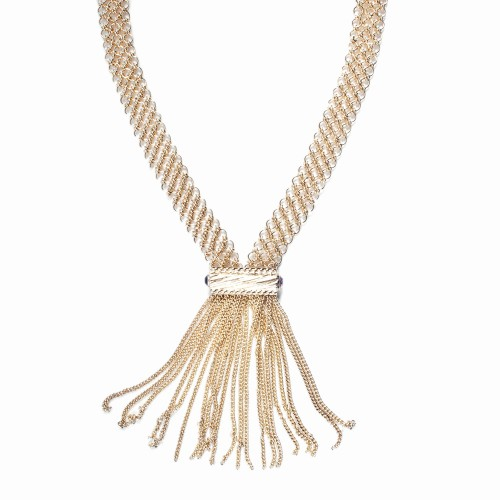 Gold Necklace with Tassels