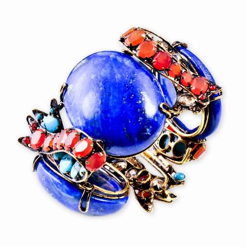 Lapis, Carnelian & Turquoise Bracelet