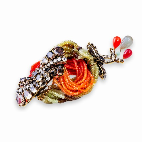 Garnet and Carnelian Bracelet