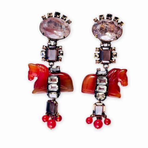 Citrine & Carnelian Earrings