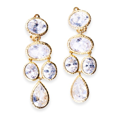 Gold and CZ (Cubic Zirconia) Earrings
