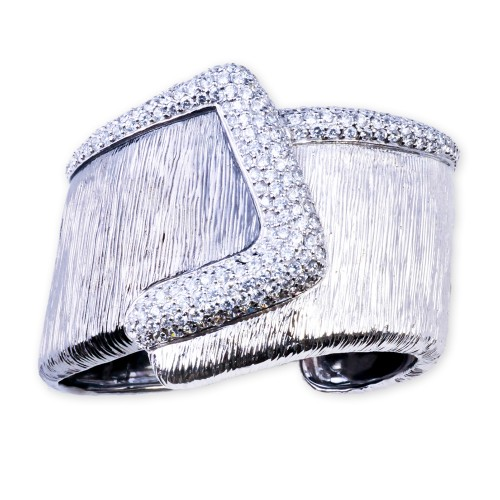 Silver and CZ (Cubic Zirconia) Bracelet