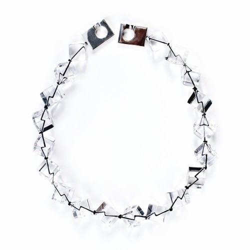 Rock Crystal Cubed Necklace