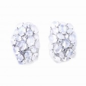 Moonstone and CZ (Cubic Zirconia) Earrings