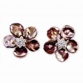 Keshi Pearl Flower Earrings